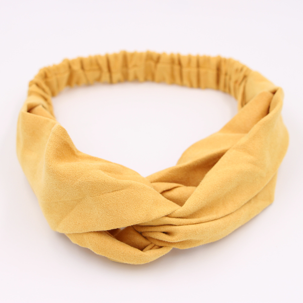 solid color cloth cross hair band Korean simple headband  wholesale  NHCL250080