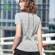 運動T恤女夏季薄款跑步透氣寬松顯瘦健身訓練速干圓領短袖上衣
