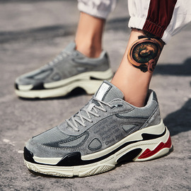 Autumn new national tide old shoes men's leather youth wild casual shoes retro sports men's shoes street shoot