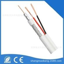 厂家供应CCTV RG59+2c  同轴电源一体视频线  外贸专业订制工厂