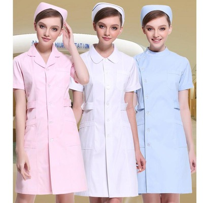Nurse Hospital doctor long sleeve white coat embroiderer Hospital doctor work clothes in beauty salon