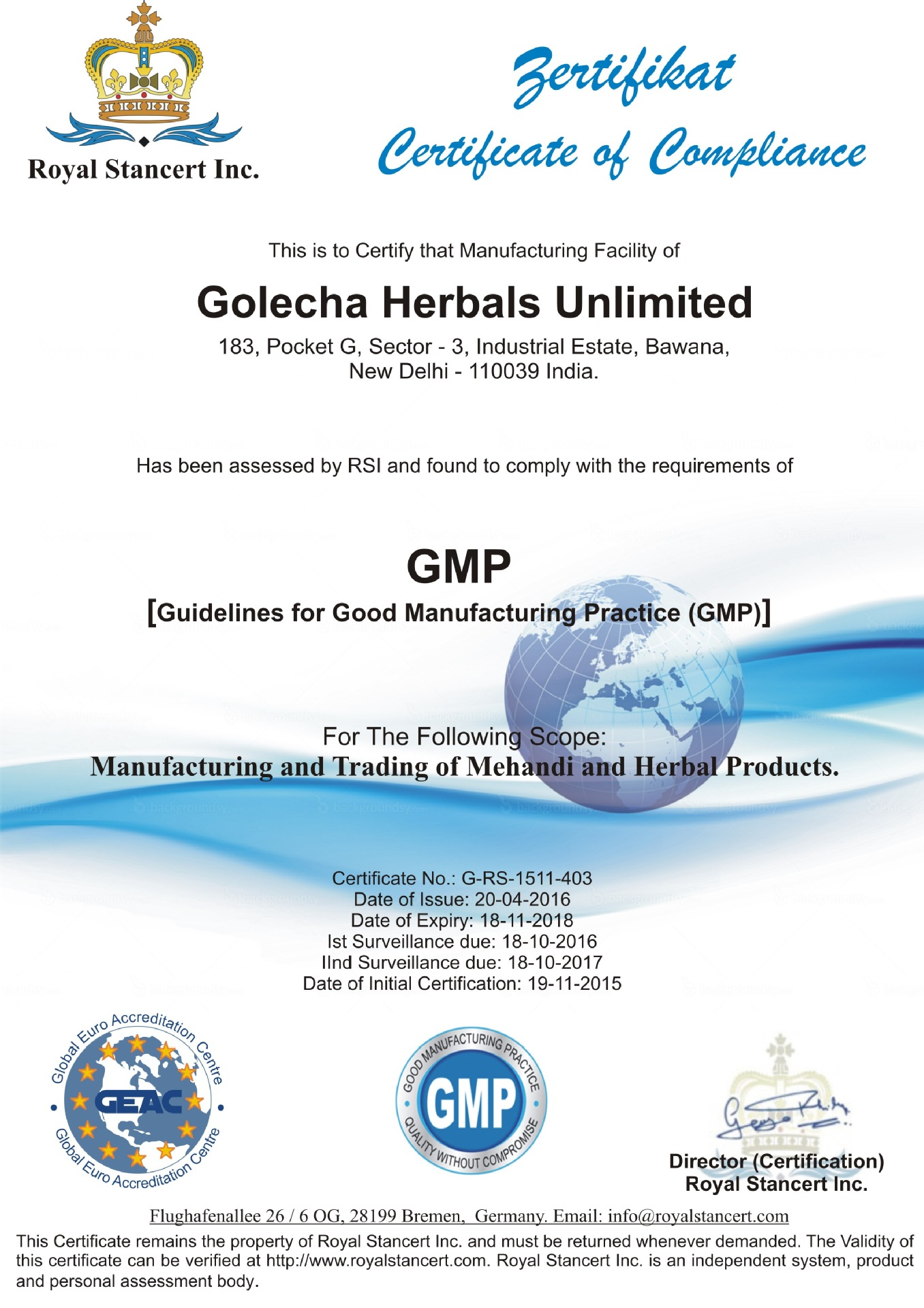 GOLECHA GMP REVISED CERT.JPG