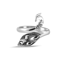 National peacock retro ring s925 sterling silver open ring sterling silver jewelry birthday gift gift