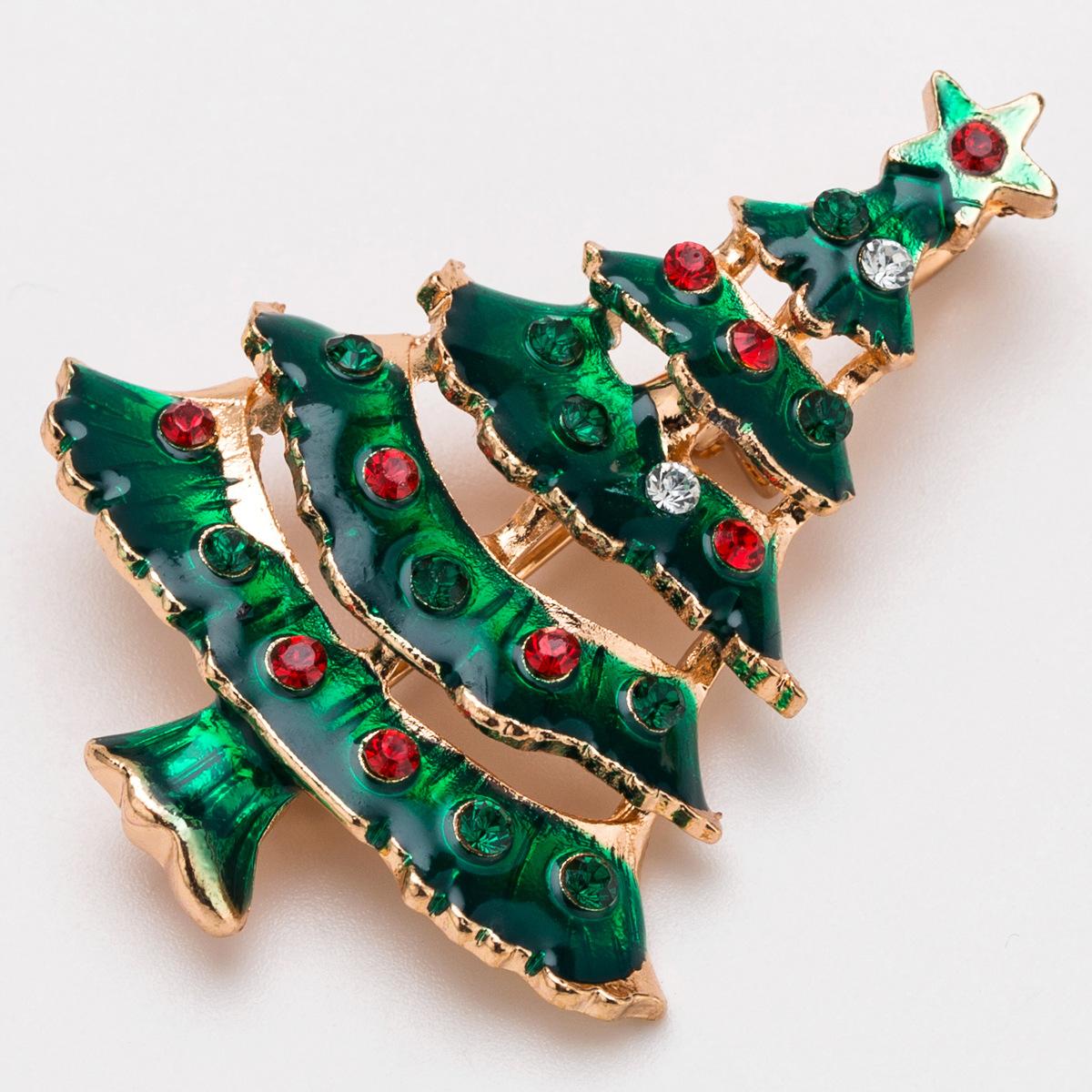 Alloy Fashion Geometric brooch  (Christmas tree) NHJE2269-Christmas-tree