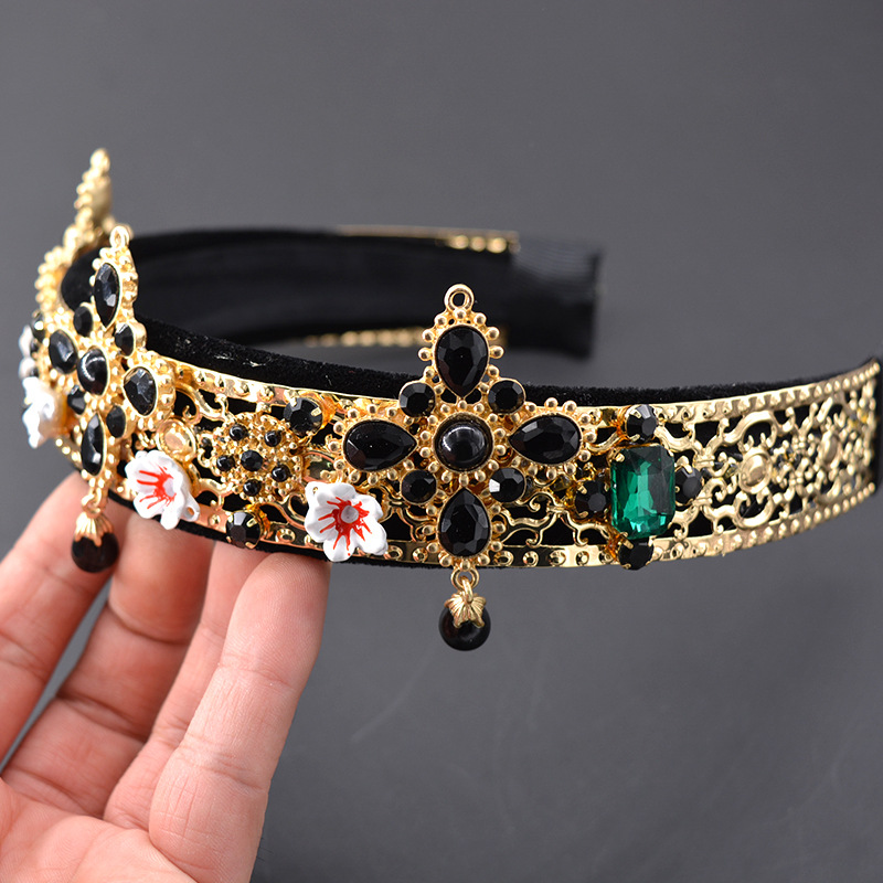 Alloy Vintage Flowers Hair accessories  (Alloy) NHNT0721-Alloy