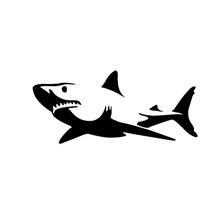 Shark 车贴 鲨鱼 侧门车贴 个性车贴 可爱卡通趣味车贴 小号
