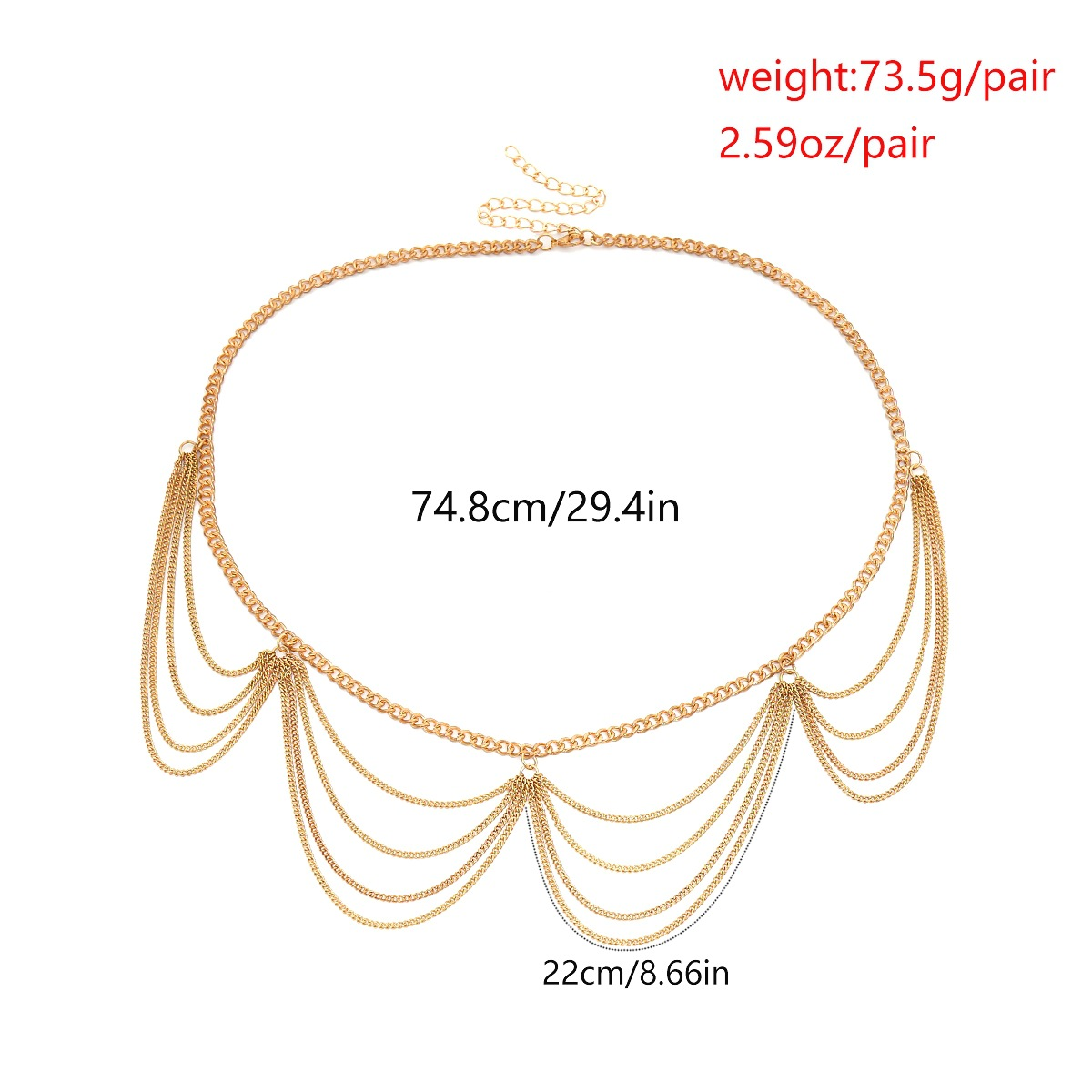 Alloy Simple Tassel Body accessories  (Alloy 0401) NHXR2638-Alloy-0401