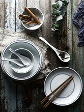 中式碗碟套装家用一人食餐具套装日式景德镇碗盘套装简约2人复古