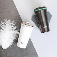 百安思保温杯咖啡杯不锈钢时尚男女便携辛巴克风保温杯定制刻字