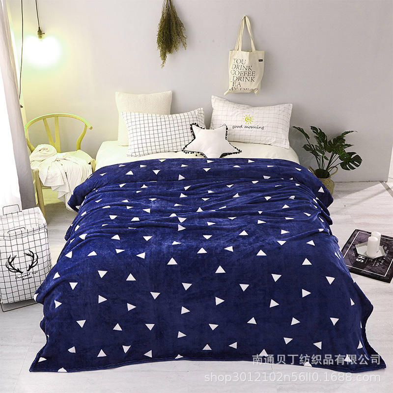 Cross-border One Generation Blanket Wholesale Direct Thickening Coral Fleece Flannel Air Conditioning Blanket Foreign Trade Custom Blankets