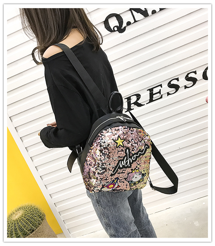 Polyester Korea  backpack  (black) NHPB3161-black