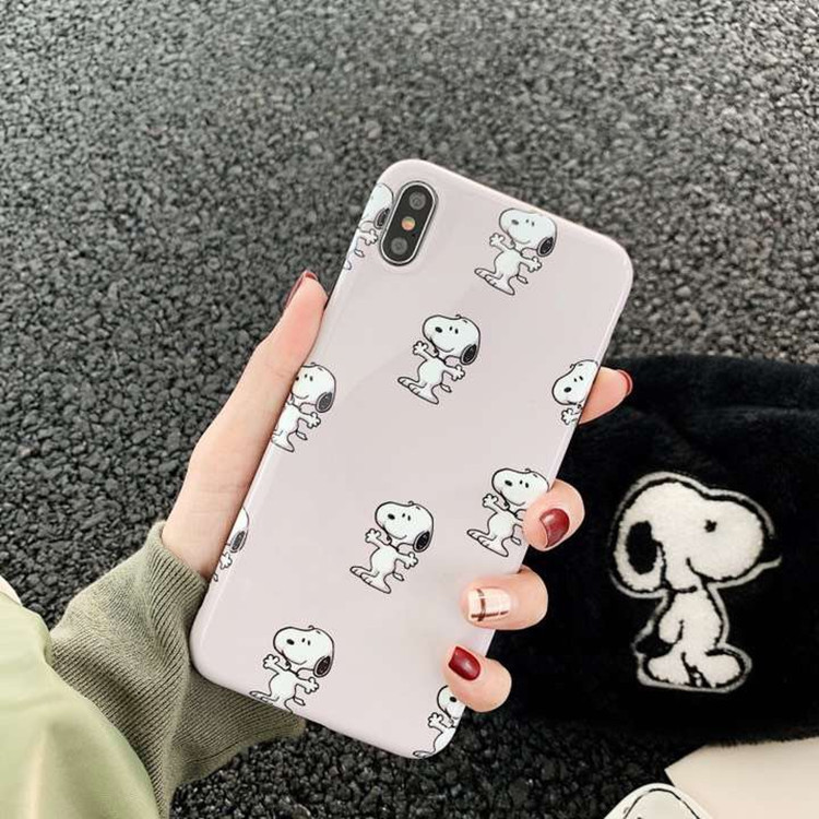 Cute cartoon Snoopy iPhone8plus mobile phone shell love soft shell apple 7p for X protective sleeve couple