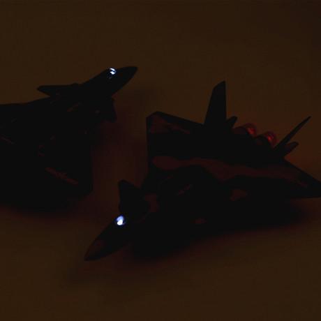 (Đóng hộp) 歼 20 máy bay chiến đấu mô hình đồ chơi quân sự hợp kim kéo lại đồ trang trí máy bay nhỏ một thế hệ Mô hình hàng không