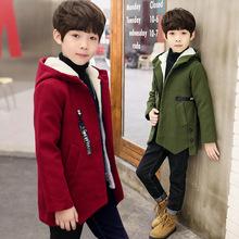 Áo trẻ em mùa đông 2019 cho bé trai mới cộng với áo khoác nhung dày cho bé Áo khoác len