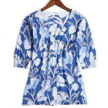 全身数码印花纯棉系列V领短袖开衫 品质款针织衫女装新款厂家直供