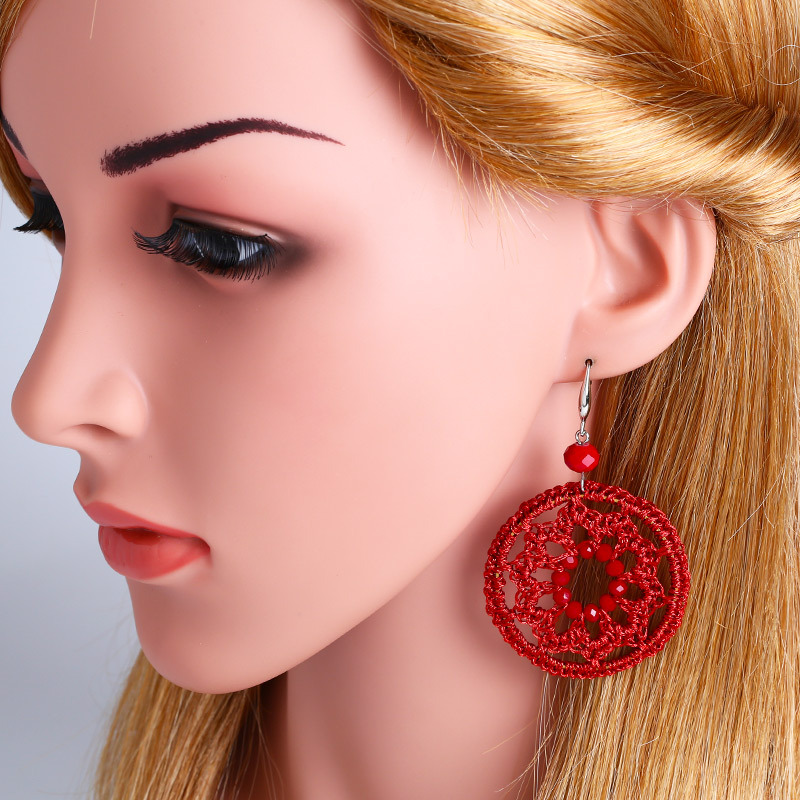 Alloy Vintage bolso cesta earring  (red)  Fashion Jewelry NHAS0543-red