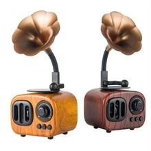 厂家直销复古蓝牙音箱批发插卡?#25214;?#24494;信语音无线智能音箱现货定制