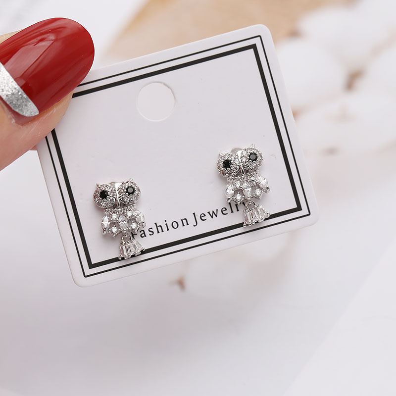 Womens Insect Micro Inlay Copper Earrings NHDO158527
