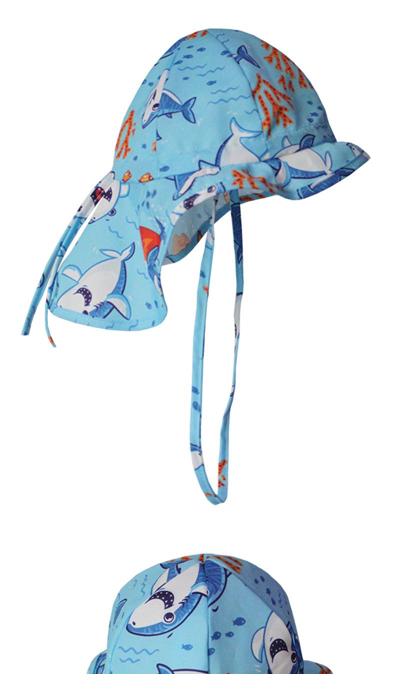 儿童防晒帽遮阳帽 护颈太阳帽 防紫外线婴儿帽