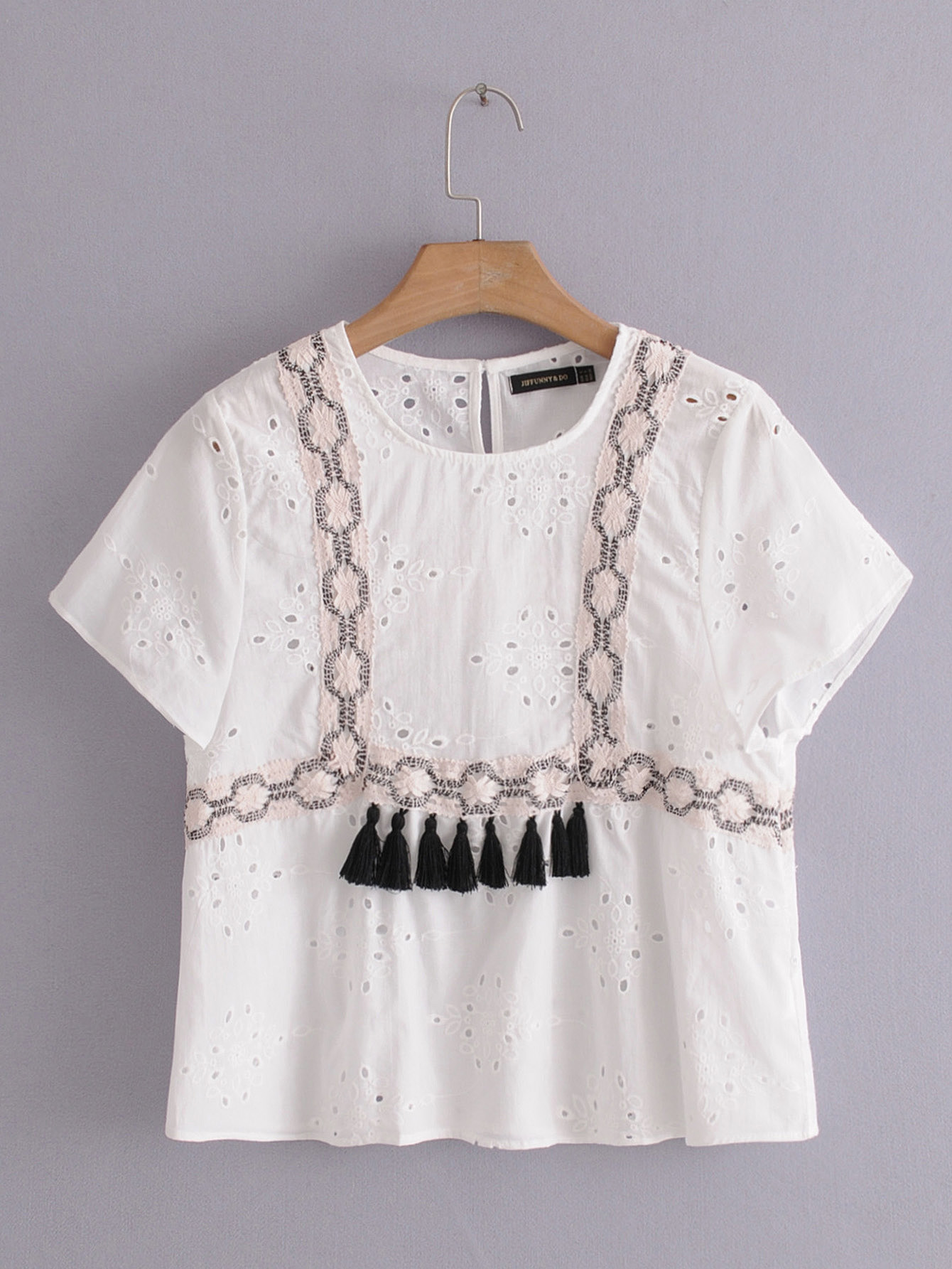 Cotton Fashionshirt(White-S) NHAM4381-White-S
