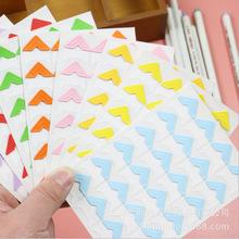 24枚纸质相片角贴糖果纯彩色款单色角贴简约DIY相册配件贴角8色