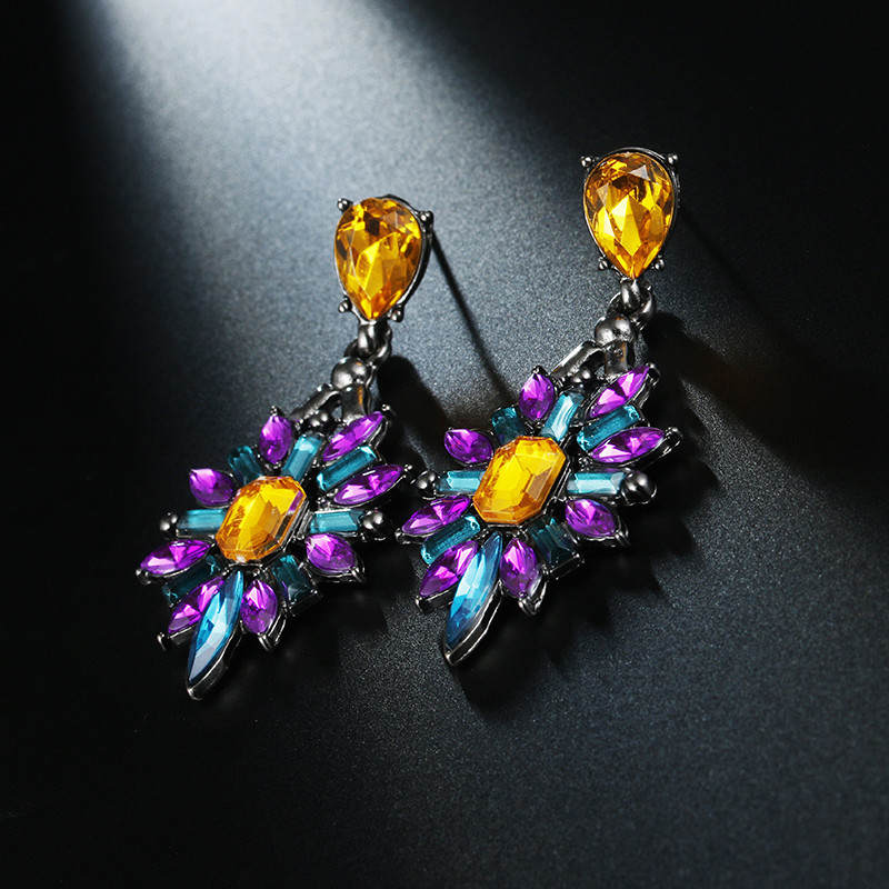 Bohemian earrings acrylic drop fashion jewelry female NHPF176426