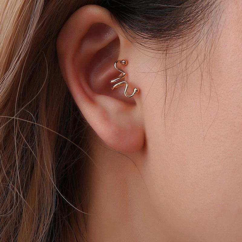 Fashion women curve single ear cuff clip earrings alloy alloyen NHDP136139