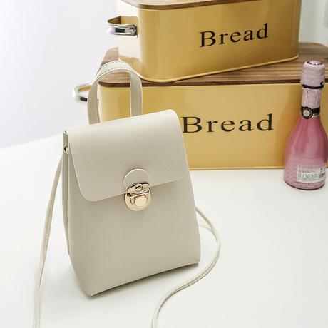 Túi xách nữ một vai 2019 Nhật Bản và Hàn Quốc màu sắc mới phù hợp với khóa mini mini vuông nhỏ túi xách hoang dã Túi xách Messenger