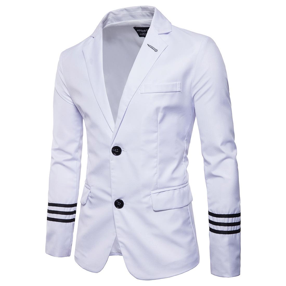 Quick sell eBay new men's two button suit top wedding best man's suit European size slim suit jacket