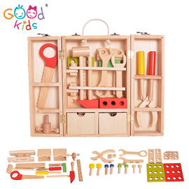 Children's disassembly repair kit wooden simulation play house toy boy early education hands-on training toy set