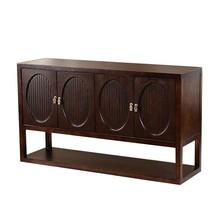 新中式玄关柜 现代实木餐边柜 别墅简约储物柜禅意门厅柜家具定制