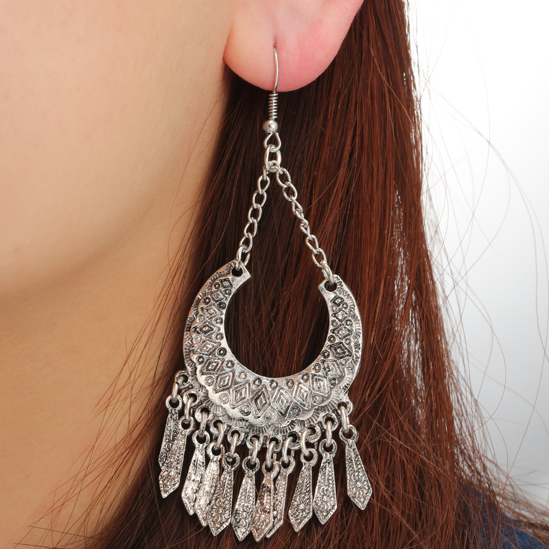 Alloy Vintage Geometric earring(Main color) NHGY1699-Main color