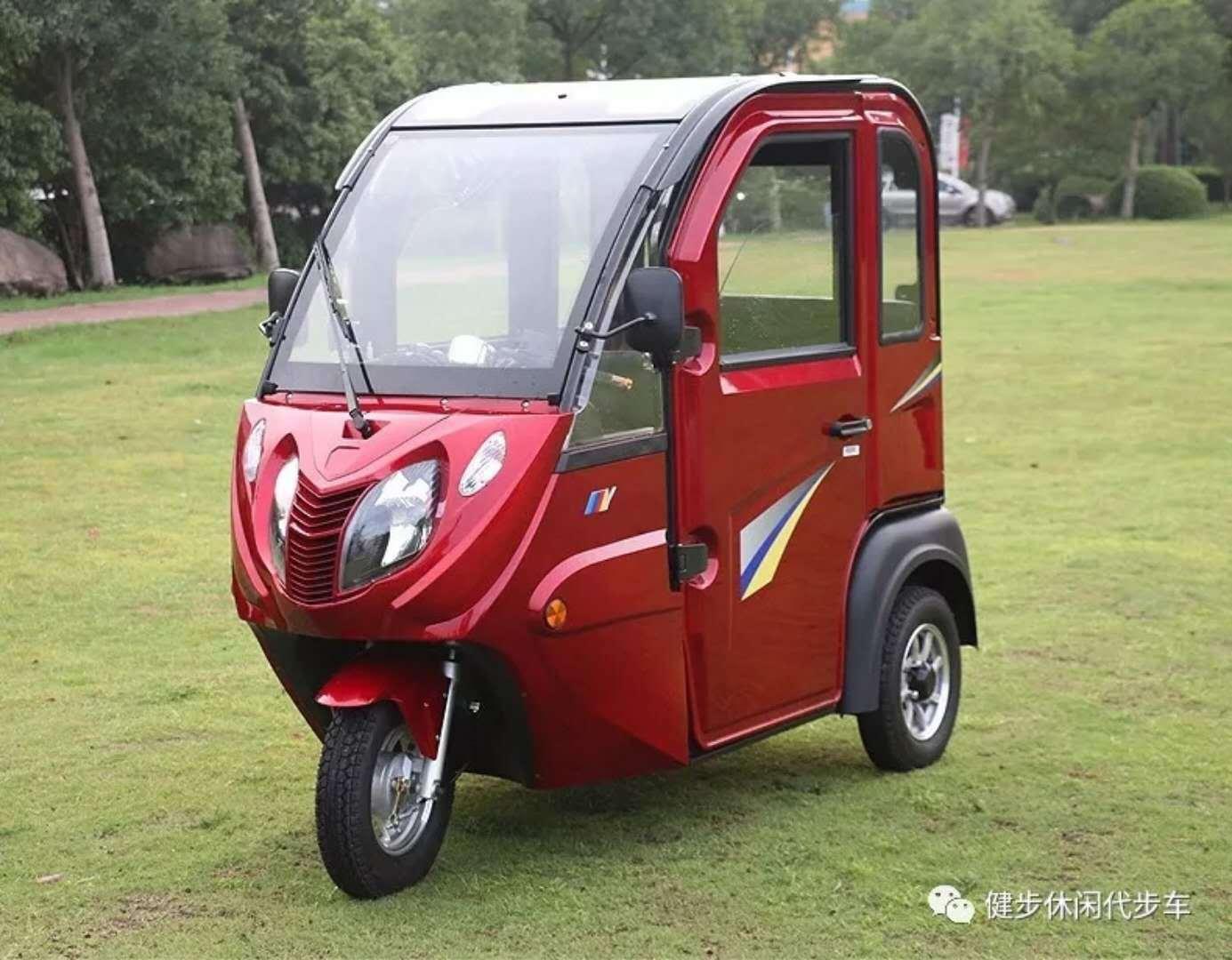 健步-冬云760 三轮封闭电动休闲车60V 带天窗暖风音响简单安全