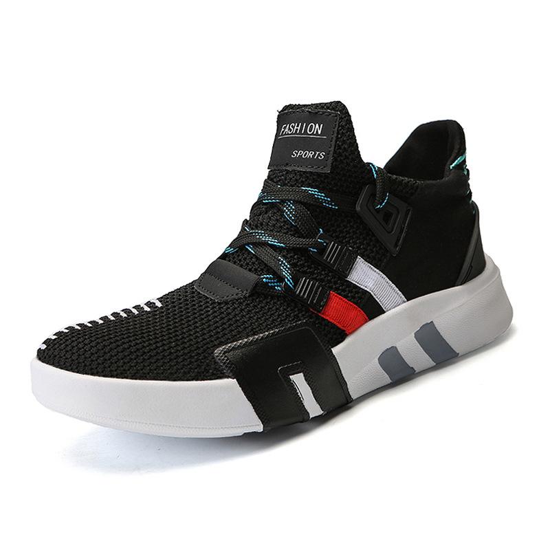 AliExpress 2018 الربيع و الخريف أحذية الرجال النسخة الكورية من الزوجين جوكر الأحذية الرياضية المريحة مش أحذية رجالية تنفس