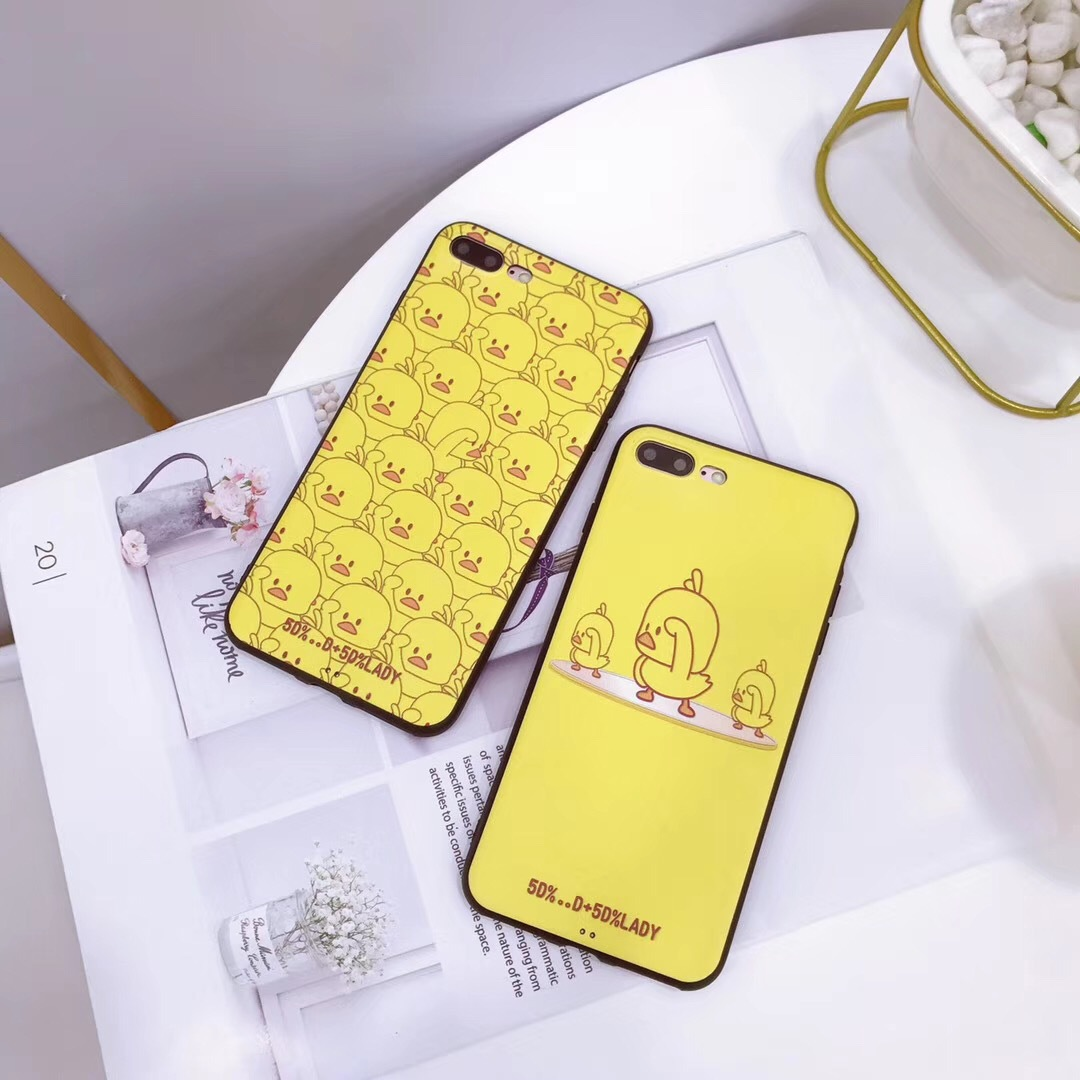 Net red with the small yellow duck for iPhonexs mobile phone shell matte Apple MAX silicone soft shell 8plus female models