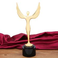 【天使之翼】金属奖杯定制 奥斯卡小金人奖杯 颁奖礼品 个性定做