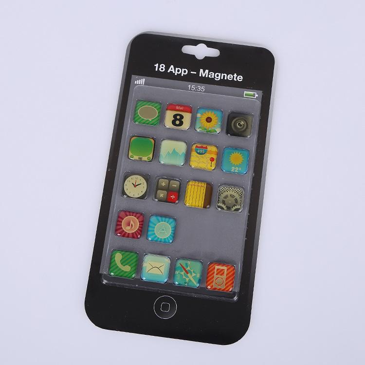 厂家直销 手机图案标签贴 磁性软件方形滴胶手机贴可定制logo