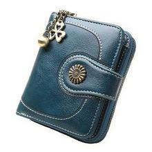 女式爆款零钱包跨境现货批发油皮手拿包复古油蜡皮硬币包卡包H828