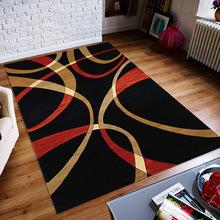 吉祥鹿家居客厅欧式简约地毯跨境代发卧室防滑3D印花地毯茶几地垫