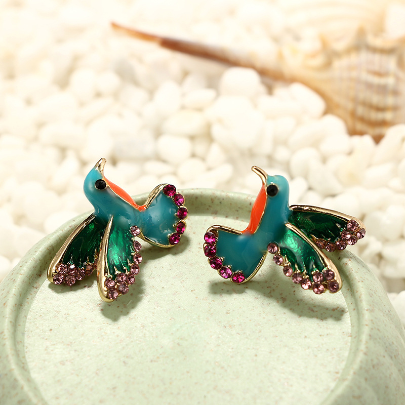 Alloy Simple Animal earring  green NHGY2393green