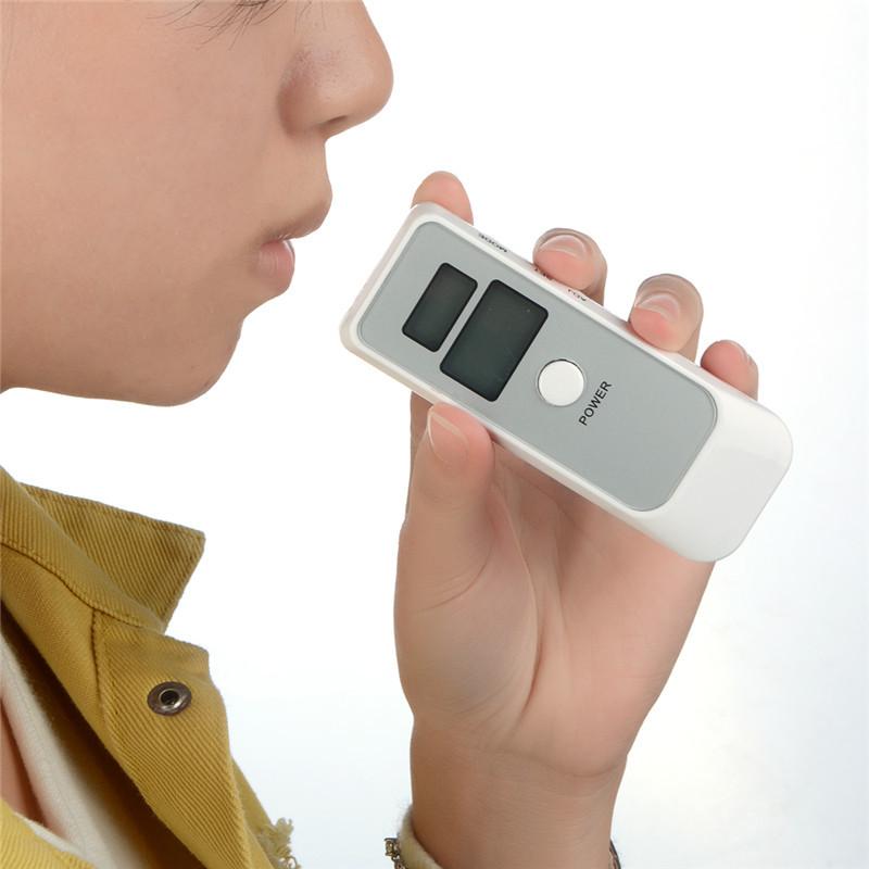 工厂直销双屏便携式酒精检测仪/测试仪 带时钟功能呼吸酒精气体