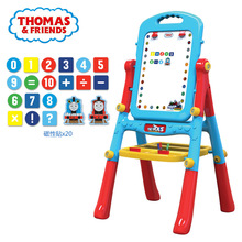Children's puzzle double-sided magnetic easel blackboard Baby writing and drawing board Linyi card graffiti board toy