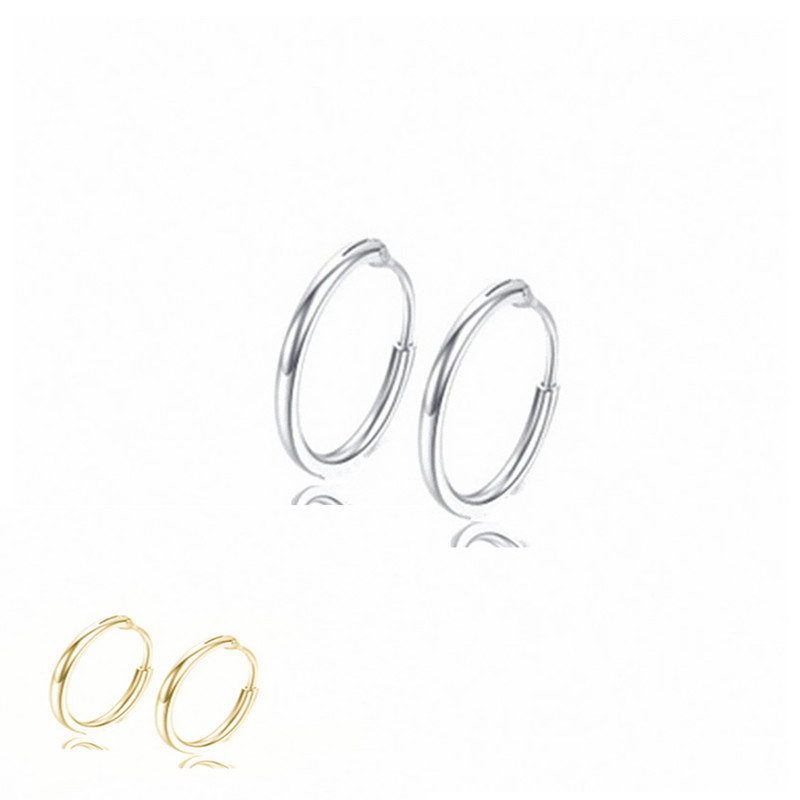 Simple alloy circle hoop earrings NHPF152792