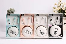 Audio Burgley KN-720 stylish boys and girls headphones with wheat mobile phones send the same box