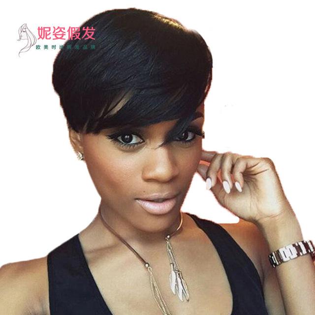亚马逊新品爆款欧美时尚假发非洲黑人女士短发假发套厂家现货批发