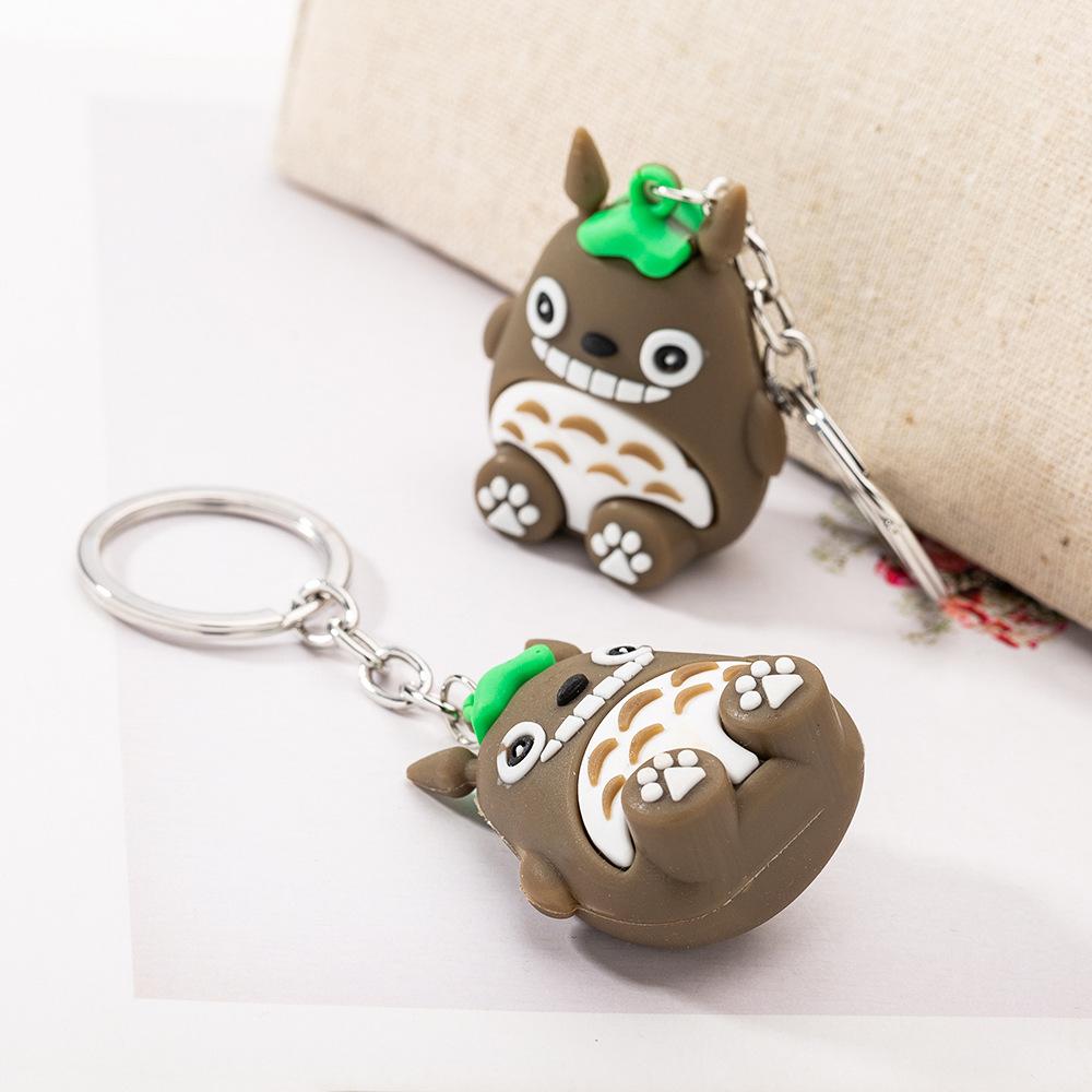 创意爆款卡通搪胶龙猫公仔挂件创意实用一元小礼品包包钥匙扣挂件