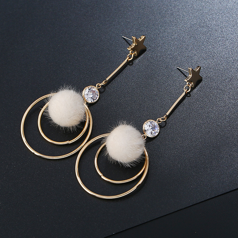 Crystal&CZ Fashion Geometric earring(KC gold white) NHKQ1564-KC gold white