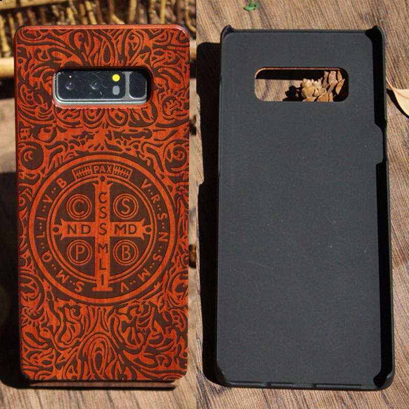 木质雕刻三星note8手机壳s9plus实木外套s10个性pc+木制s20保护套