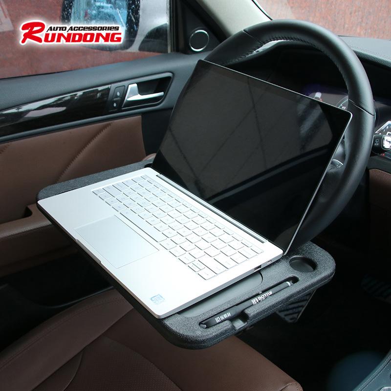 跨境专供 车载方向盘笔记本支架 车载餐盘托盘置物架 电脑桌托盘