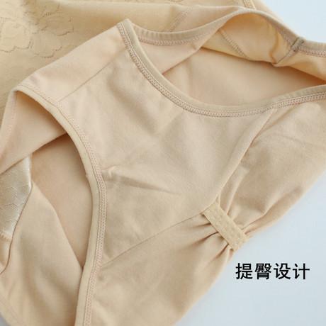 Cotton cao eo nữ đồ lót gợi cảm bụng hip thoáng khí cotton tóm tắt kích thước lớn chất béo mm quần trung niên